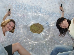 Outdoor zorbing teambuilding
