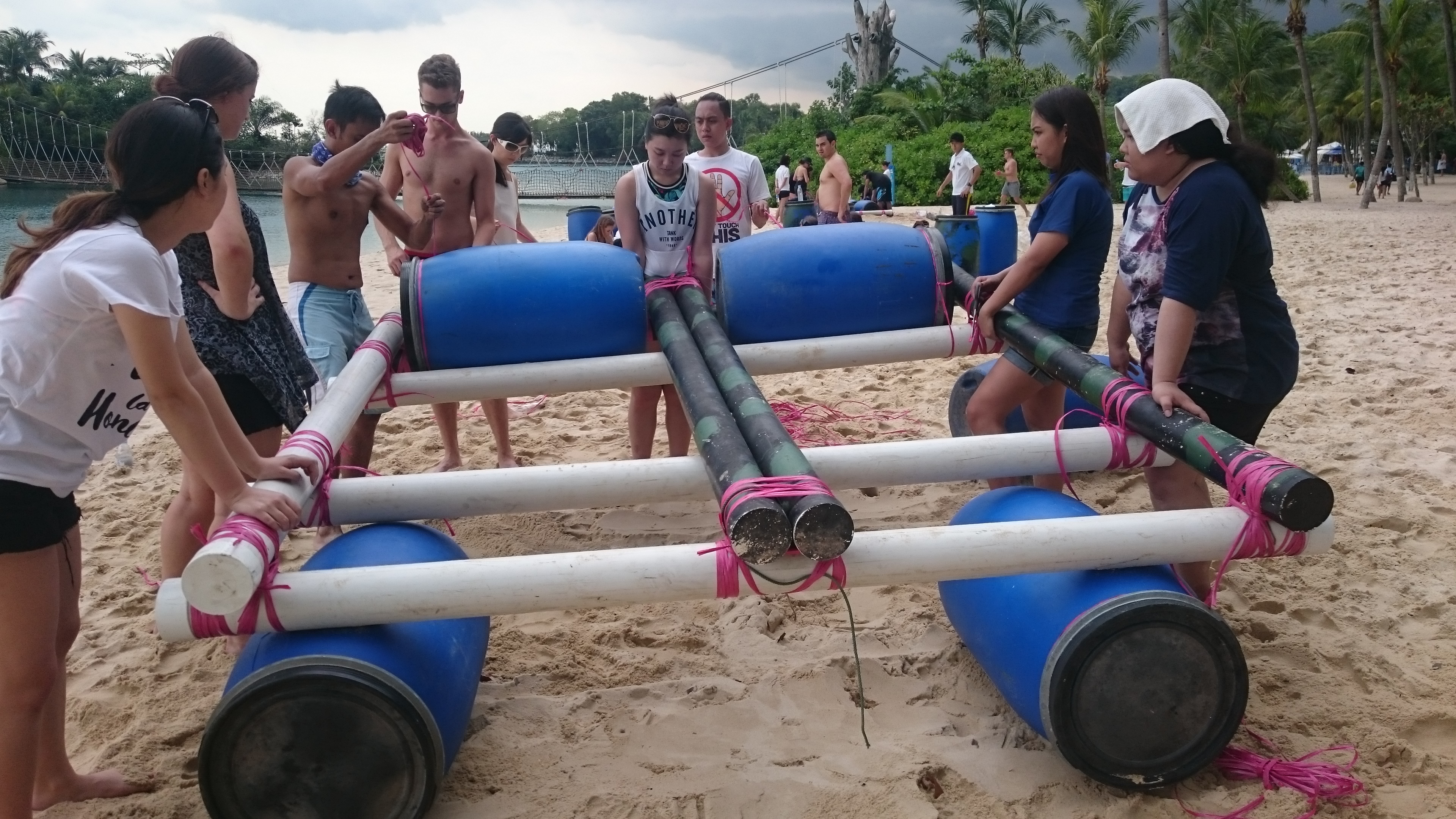 rafting team building activity