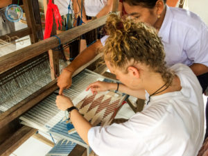 hands-on at weaving