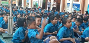 Students in School for briefing